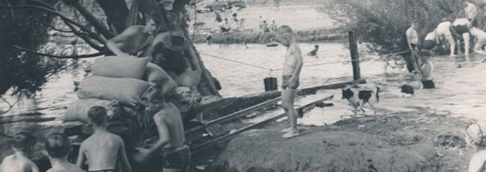 WWII-sandbags-at-Macquarie-River